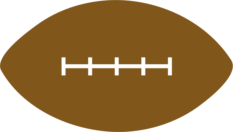 Simple Football With Number Clipart.