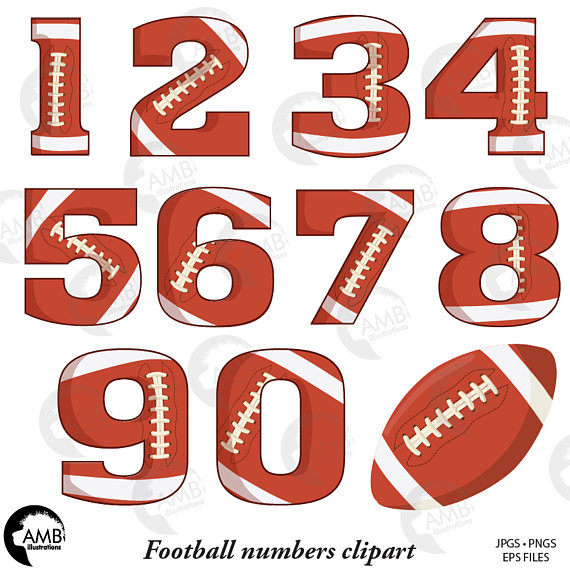 Football Numbers Clipart Gridiron Clipart Sports Teams.
