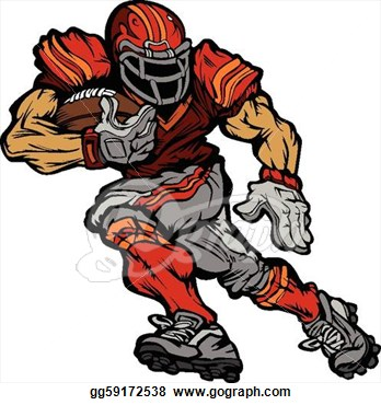 Football Offensive Lineman Clipart.