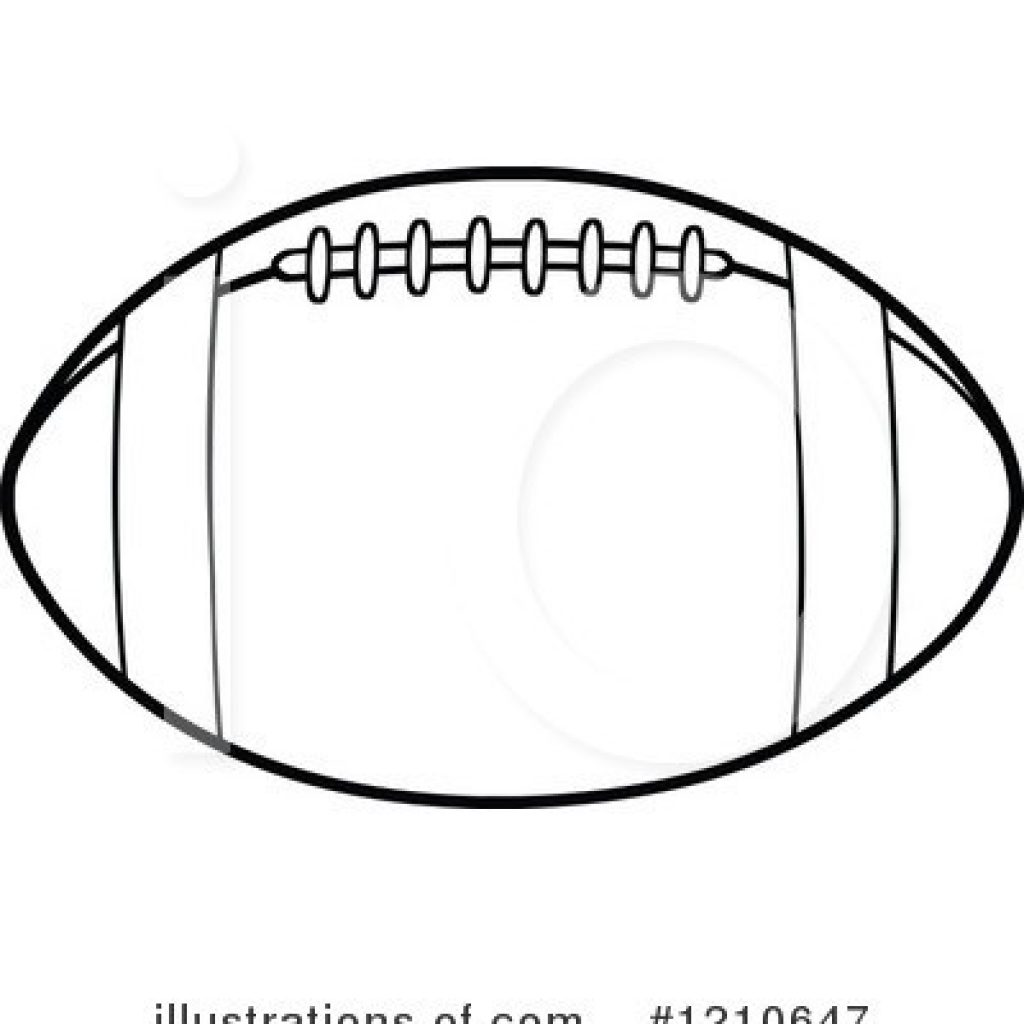 Football Outline Drawing.