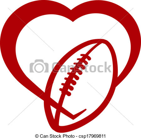 Football Outline Clipart Red Clipground