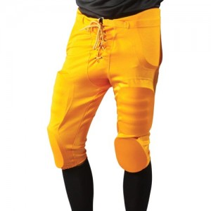 Integrated football pants for pros & practice football pants with pads.