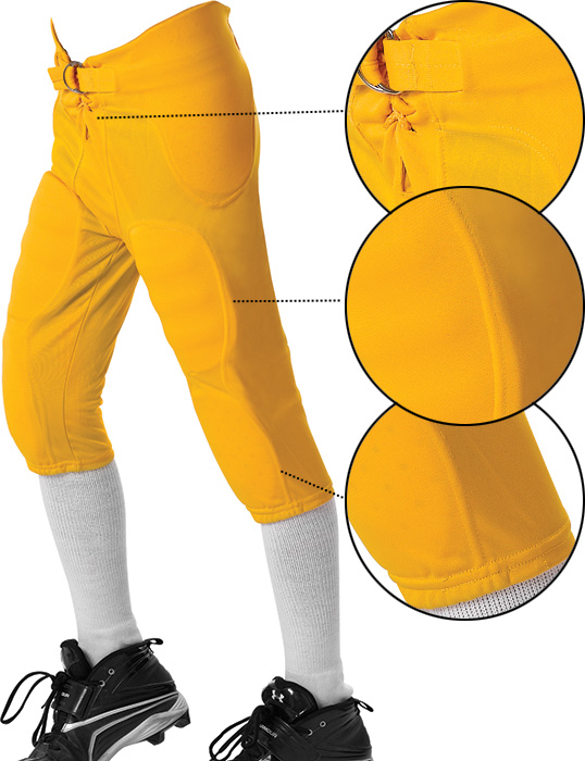 Alleson Athletic Youth Solo Series Integrated Football Pants.