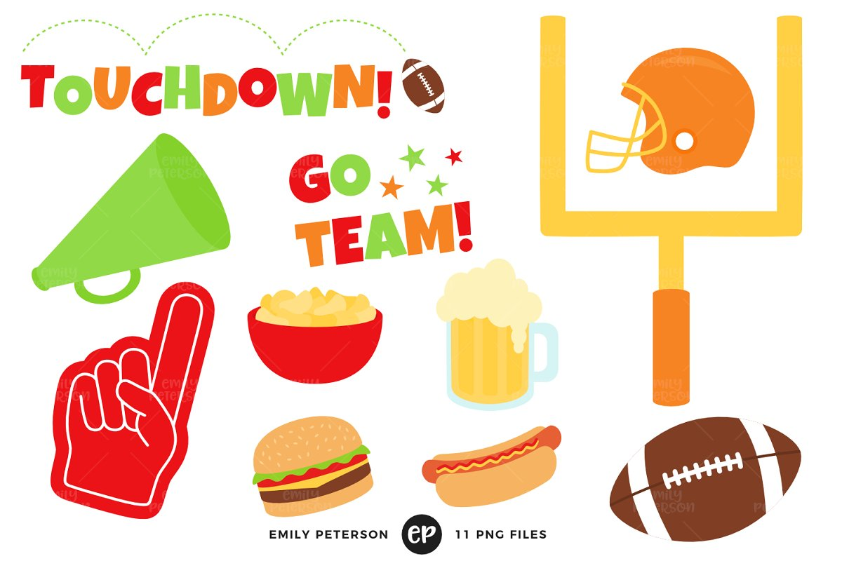 Football Party Clipart.