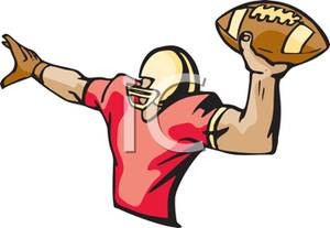 A Football Player Throwing a Pass.
