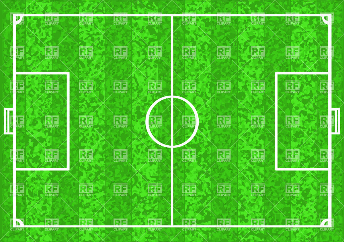 Football pitch (soccer field) Vector Image #35940.
