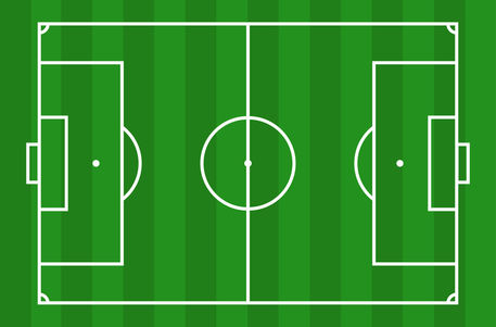 Football pitch measurements clipart.