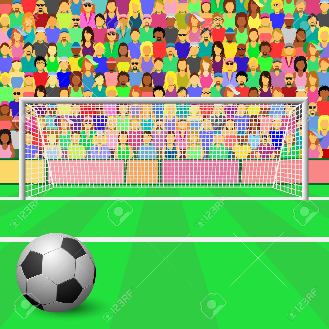 Football crowds clipart.