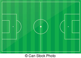 Clipart Vector of Soccer pitch.