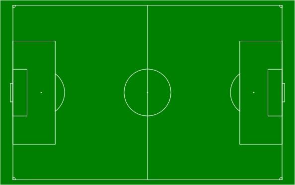 Soccer Field Football Pitch clip art Free vector in Open office.