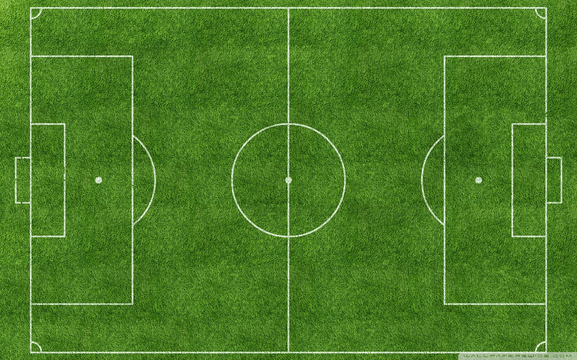 Cartoon Football Pitch.