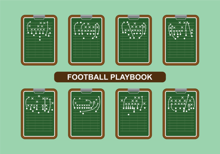 Football Playbook Vector.