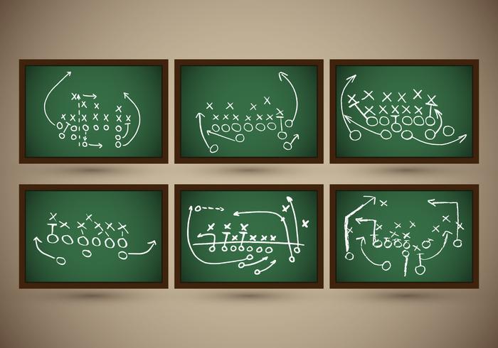 Playbook Football Slate Strategy Vector.