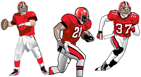 Football Team Players Clipart.