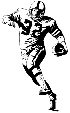 Football player clip art football player image image.