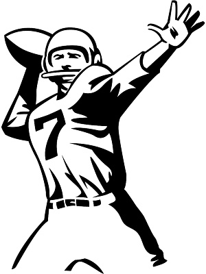 Cartoon Football Player Clipart.