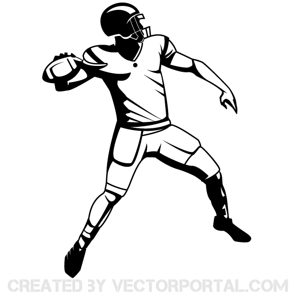 Free Football Player Clipart Pictures.