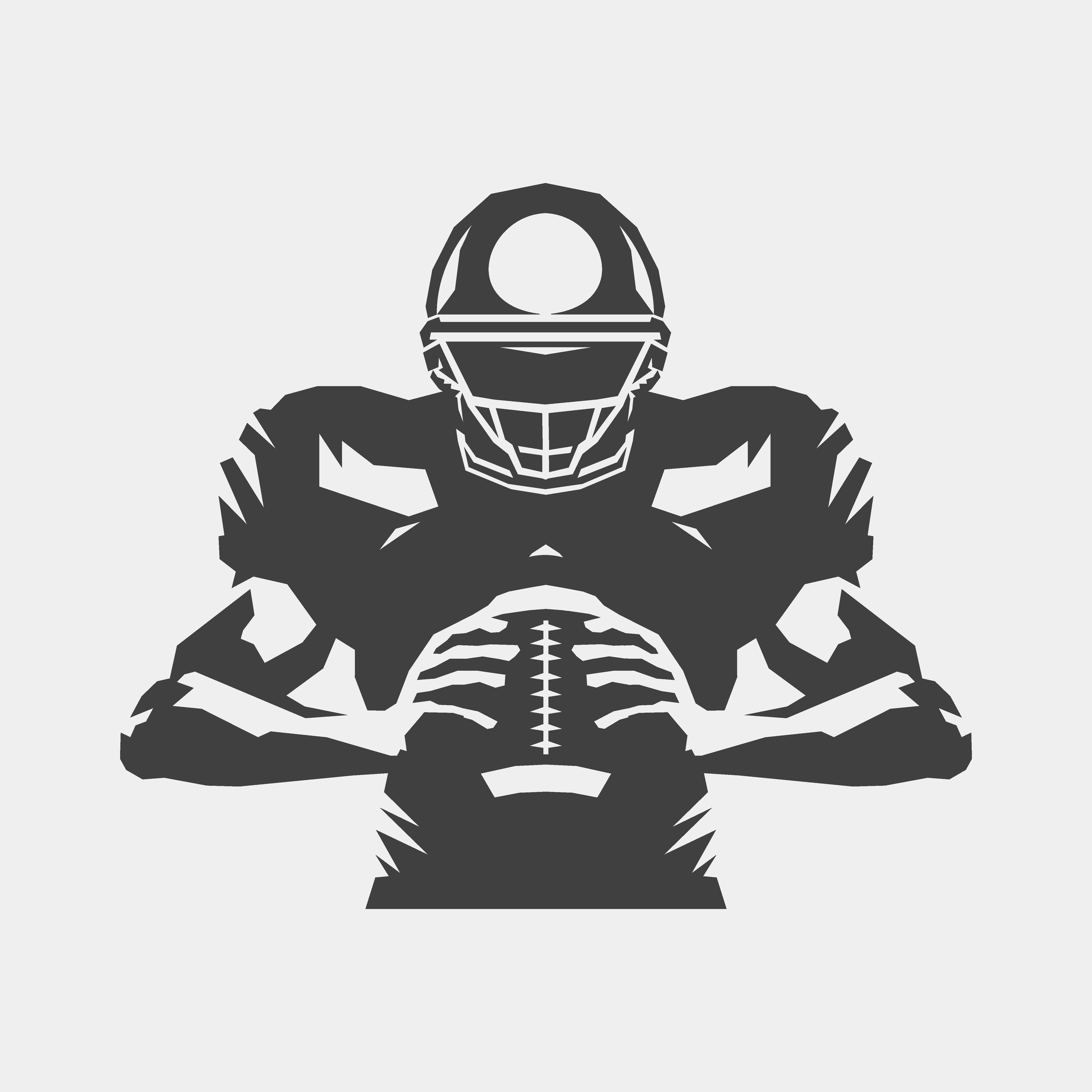 American football player.