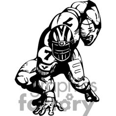 Sports Clipart Image of A Female Football Player.