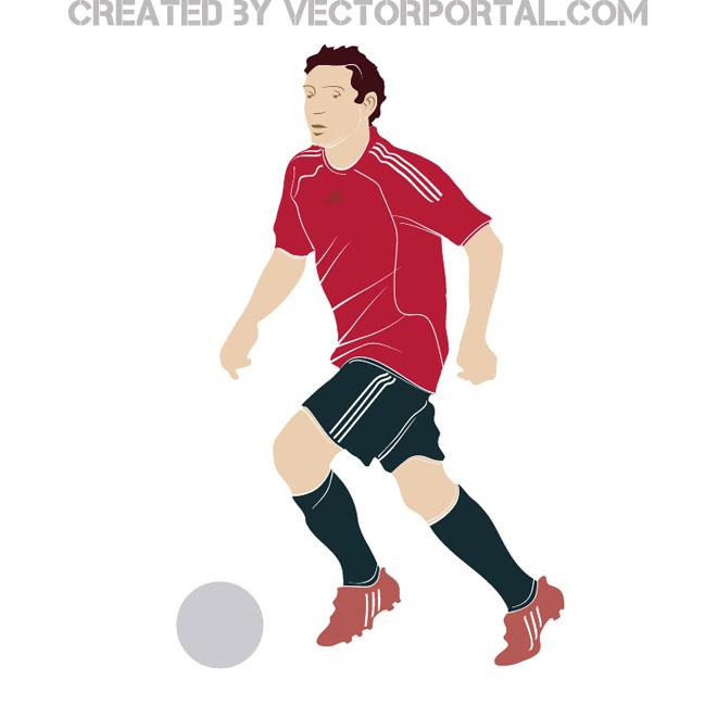 Football player vector clip art.