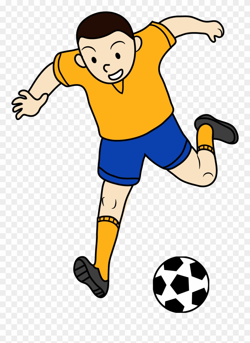 Kid Playing Soccer Or Football.