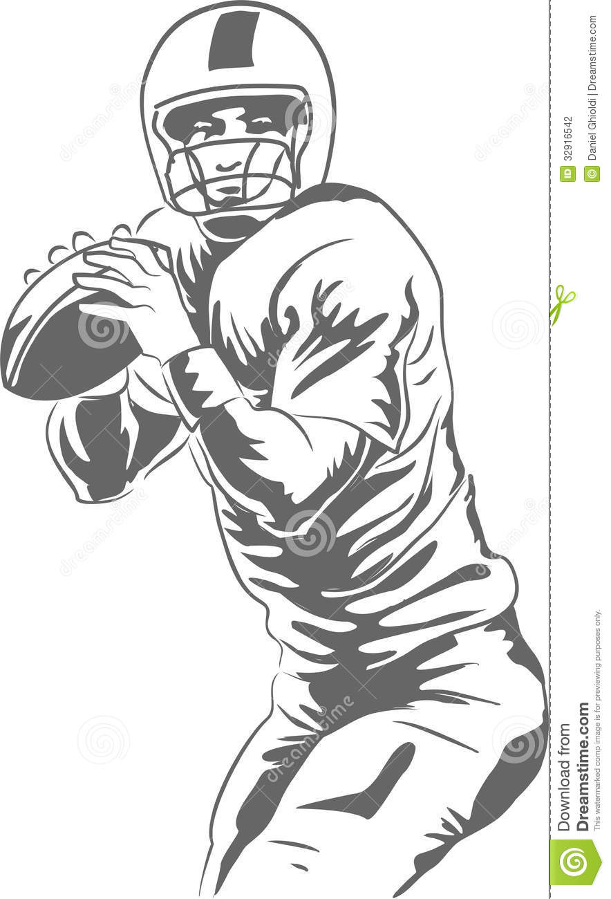 American Football Player Stock Photography.
