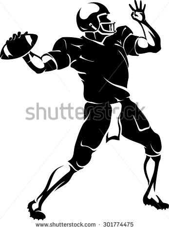 Quarterback Stock Images, Royalty.