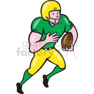 american football receiver run side OL ISO clipart. Royalty.