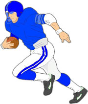 Football running back clipart.