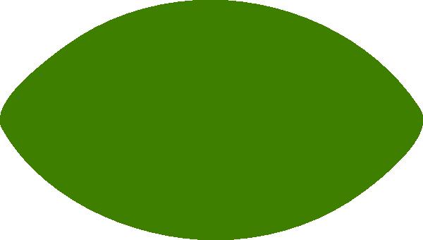 Green Football Shape Clip Art at Clker.com.