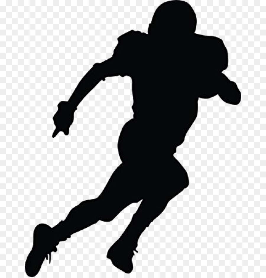 Football Silhouette Clipart