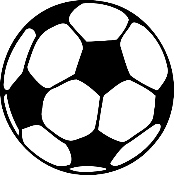 Free black and white sports clipart.