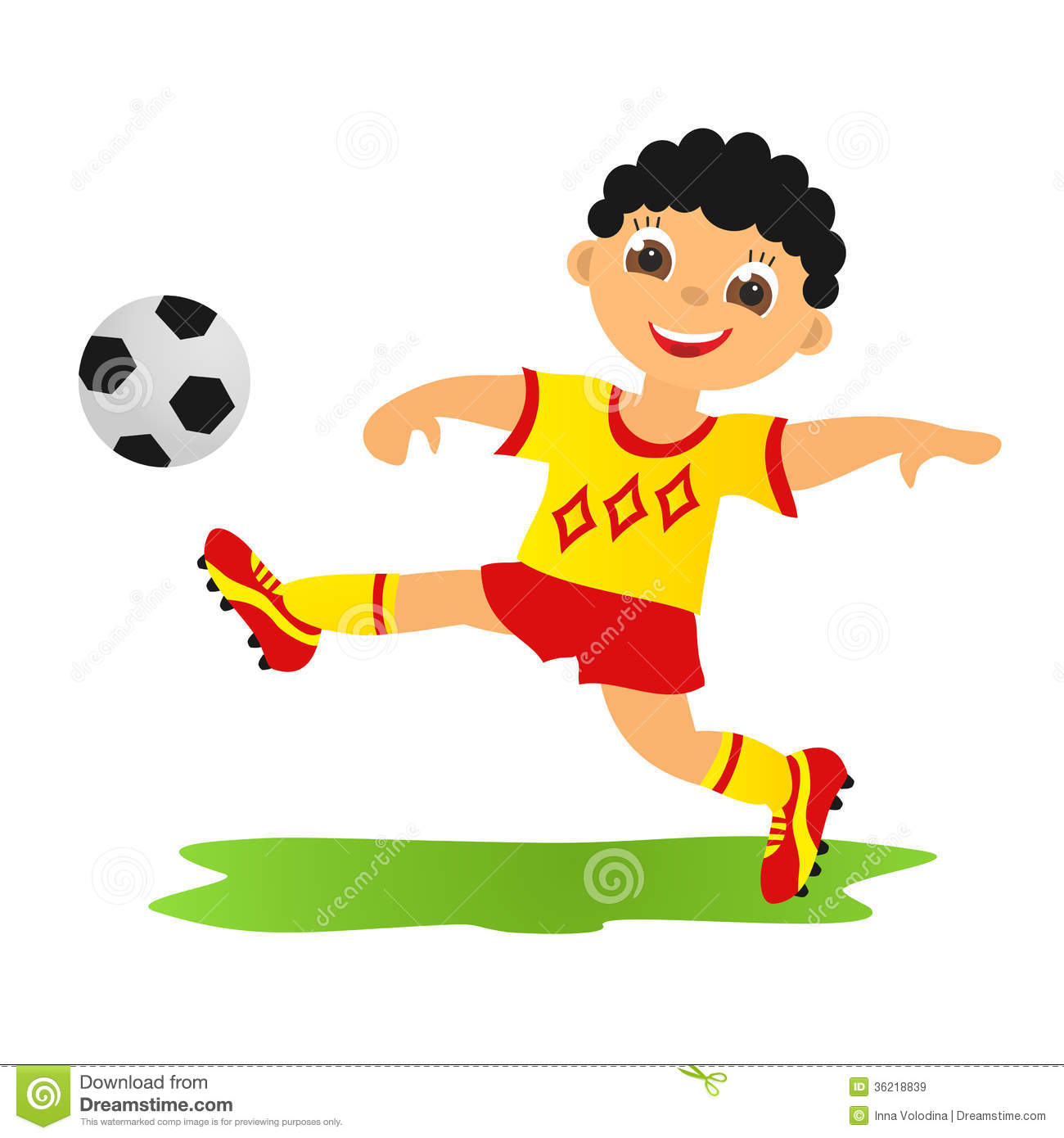 Football sports clipart #8