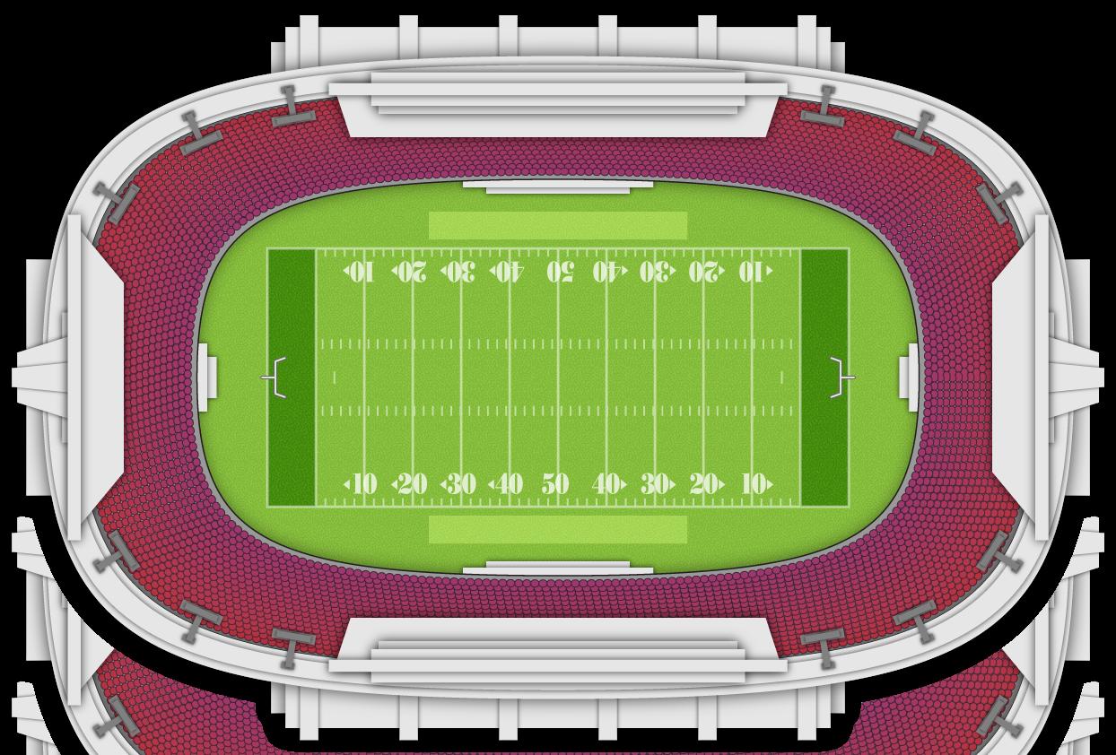 High school football stadium clipart.