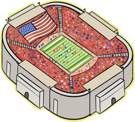 Football stadium clip art.