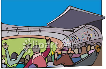 Football stands clipart.