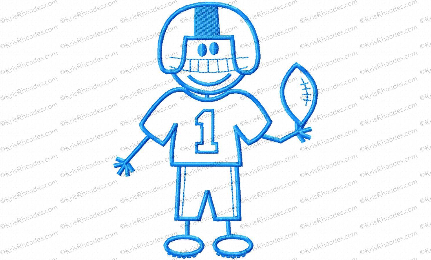 Stick Figure Football Player Clipart.