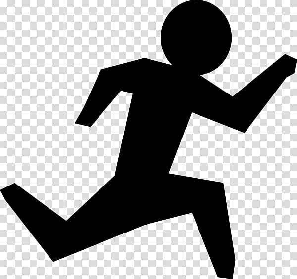 Stick figure Running , running man transparent background.