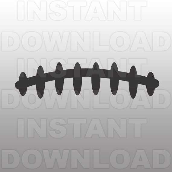 6+ Football Laces Clipart.