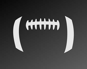 Football SVG files, Football laces SVG, Football stitches SVG.