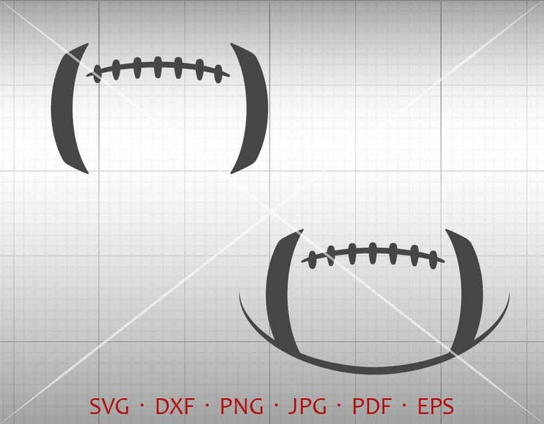 Football SVG, Football Lace SVG, Football Stitches SVG Clipart dxf  Silhouette Cricut Cut File Vector Commercial Use.