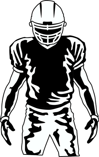 New Football Layout and Clip Art for Custom T.