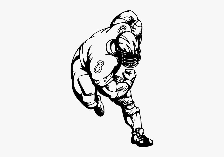 Tackle Nfl Football Player American Football Clip Art.