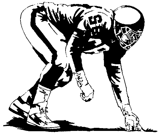 Football Player Tackling Clip Art 17384.