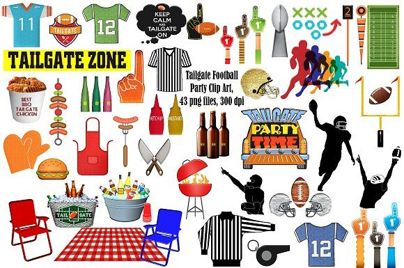 Football Tailgate Party Clip Art by FrankiesDaughtersDesign.