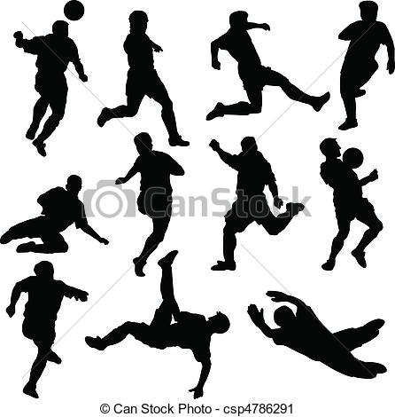 Vector Clip Art of football team vector silhouettes csp4786291.