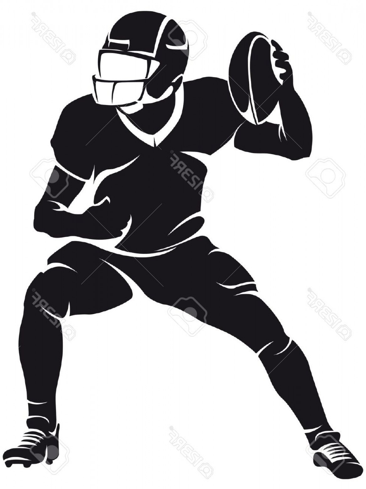 Free Football Team Silhouette Clipart Image.