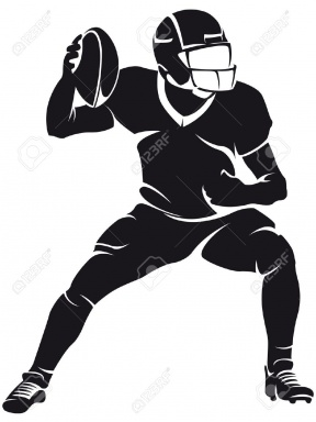 Football Clipart Silhouette.