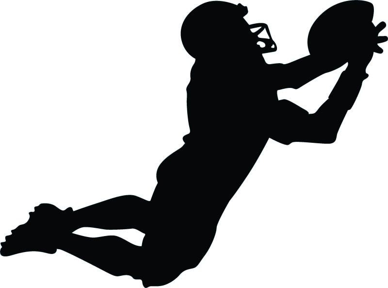 Football Silhouette Wall Decal.