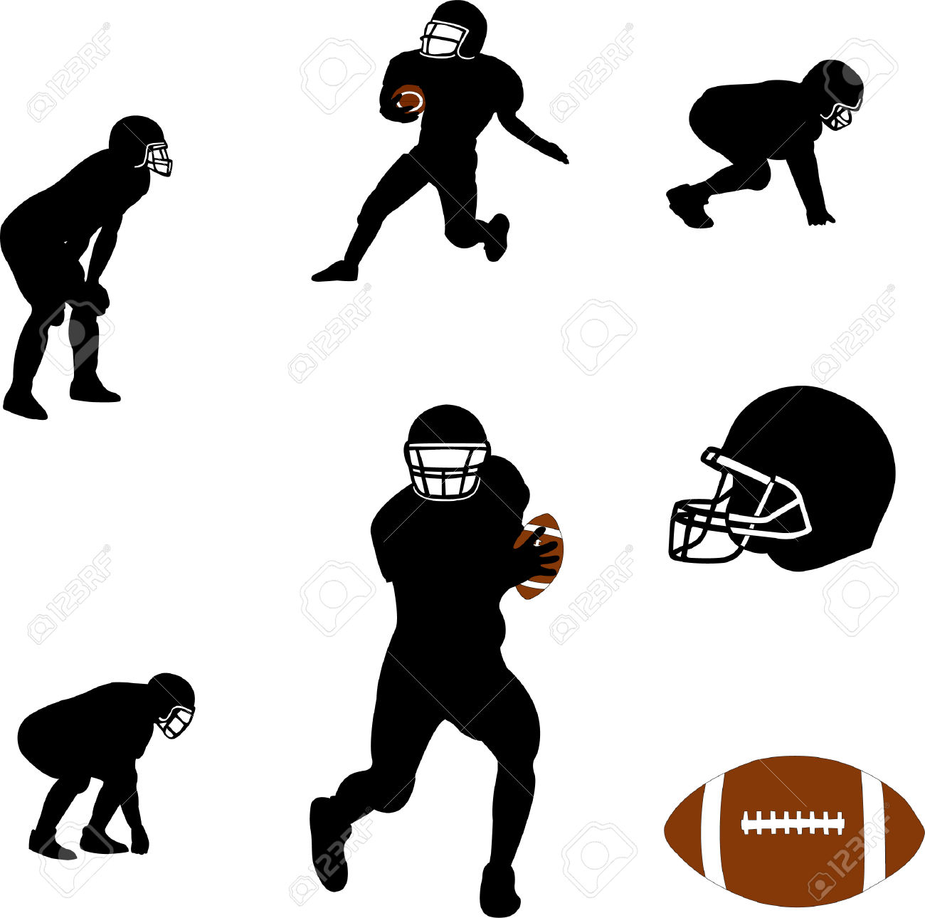 Football Team Silhouette Clipart (66+).